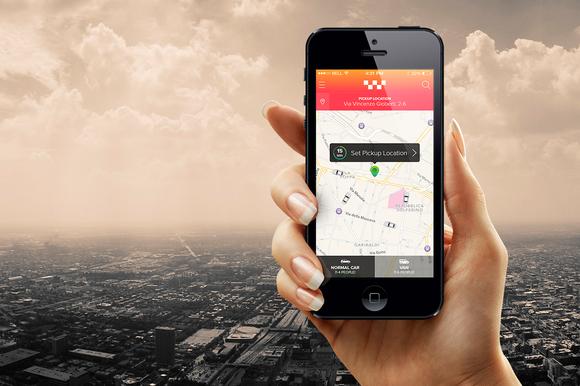 Uber Taxi App Design