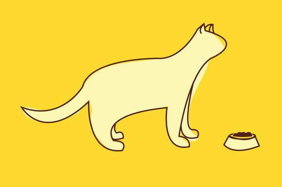 Minimalist Cat Vector