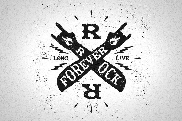 Vintage Label Rock Forever