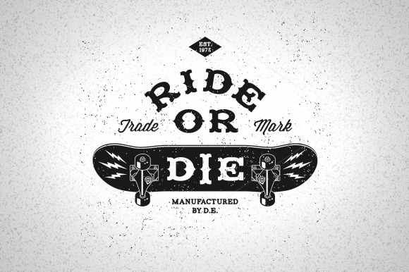 Vintage Label Ride Or Die