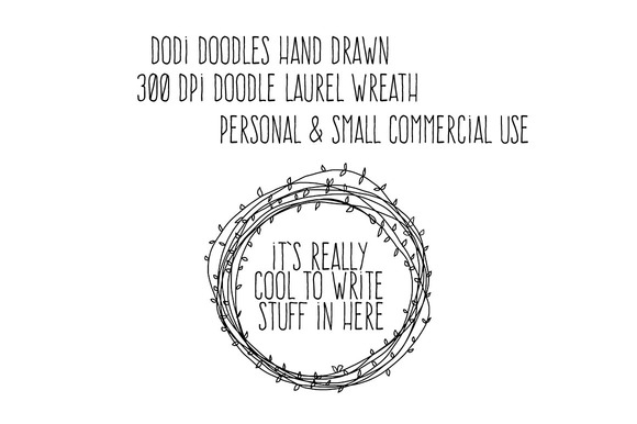 Hand Drawn Doodle Laurel Wreath