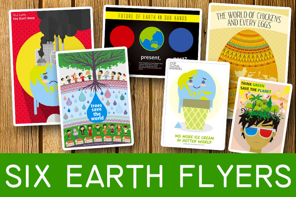 Six Earth Flyers Bundle