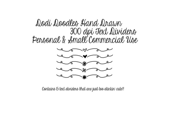 Hand Drawn Doodle Text Dividers