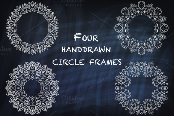 Round Vector Indian-style Frames