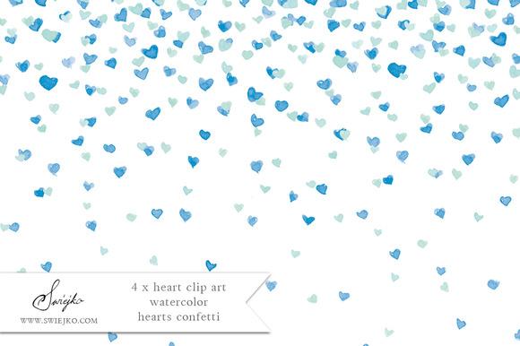 Watercolor Clip Art Confetti Heart