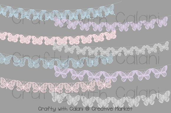 Pastel Butterfly Lace Bunting