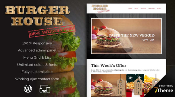 Burgerhouse Restaurant Pub Theme
