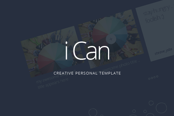 ICan Personal Website PSD Template