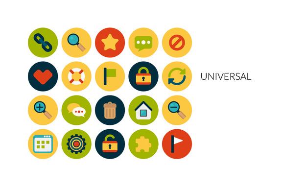 Flat Icons Set Universal