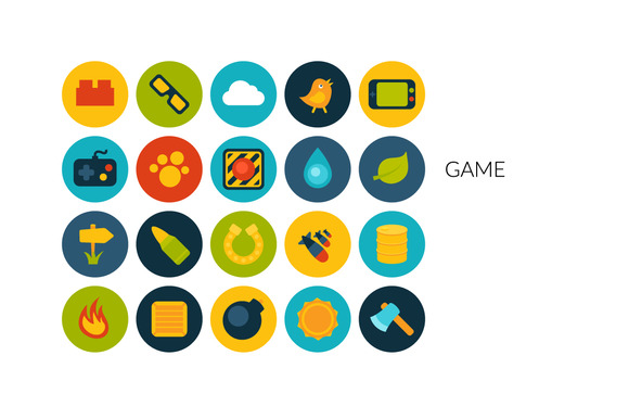 Flat Icons Set Game
