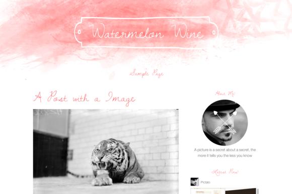 Wordpress Theme Watermelon Wine