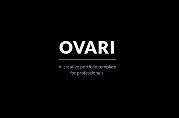 OVARI Creative Portfolio Template