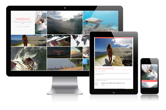 Minimalist Masonry Wordpress Theme
