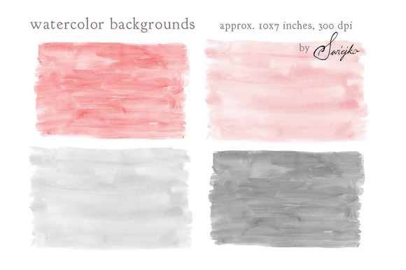 Watercolor Clip Art Background
