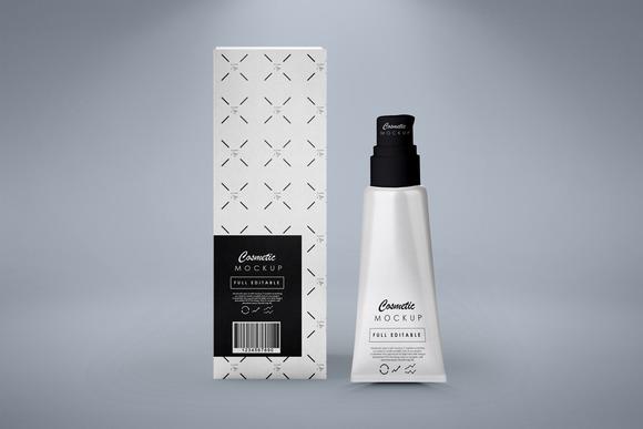 Cosmetic Tube Box Mock-up
