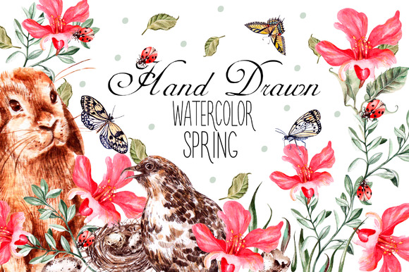 Hand Drawn Watercolor SPRING