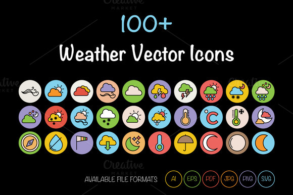 100 Weather Vector Icons