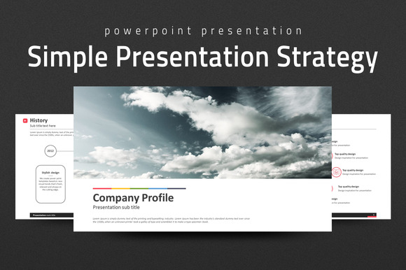 Simple Presentation Strategy