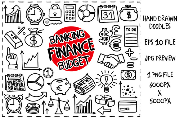 Finance Doodles Set
