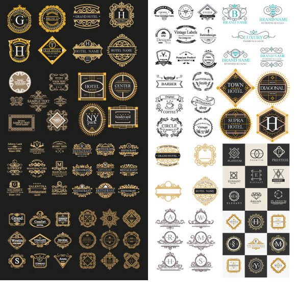 Luxury Logos Template 100 In 1 Ai