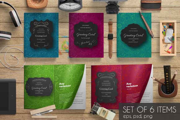 Hipster Decorative Template Set