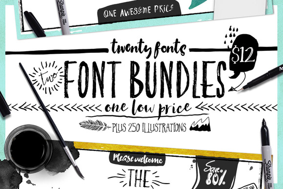 Bundle Of Fonts 2 In 1