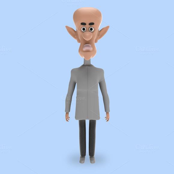 Strange Professor Isolated 3D