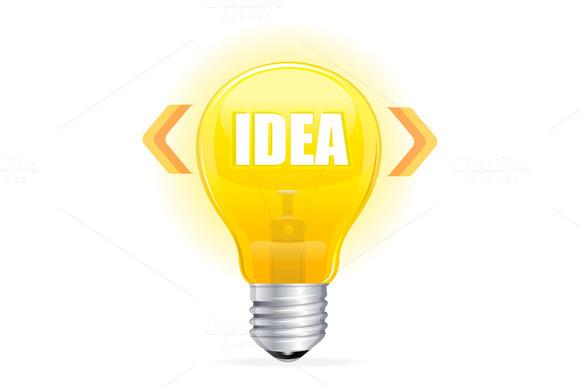 Light Bulb Idea Concept Template