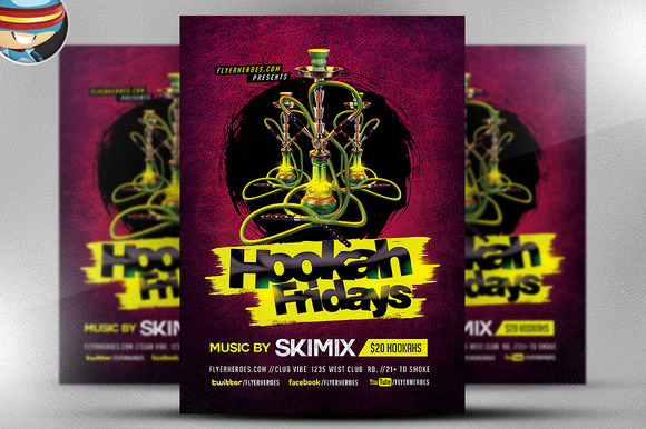 Hookah Fridays Flyer Template