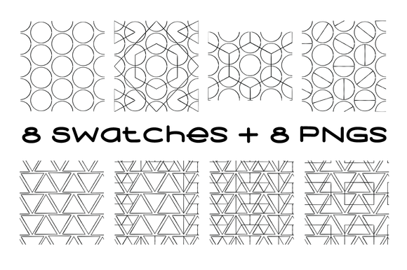 8 Geometric Swatches