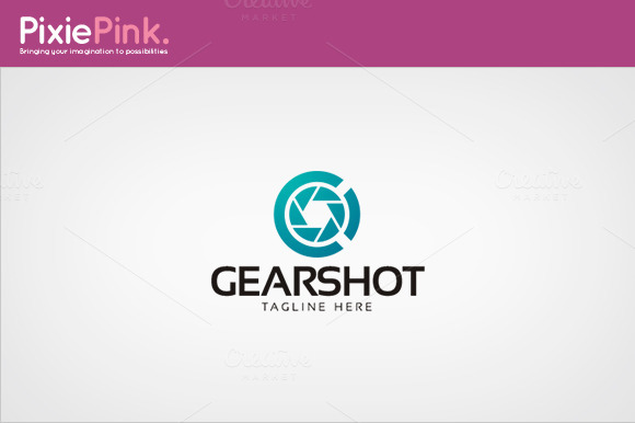 Gear Shot Logo Template