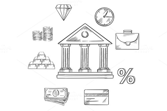 Banking Infographic Elements