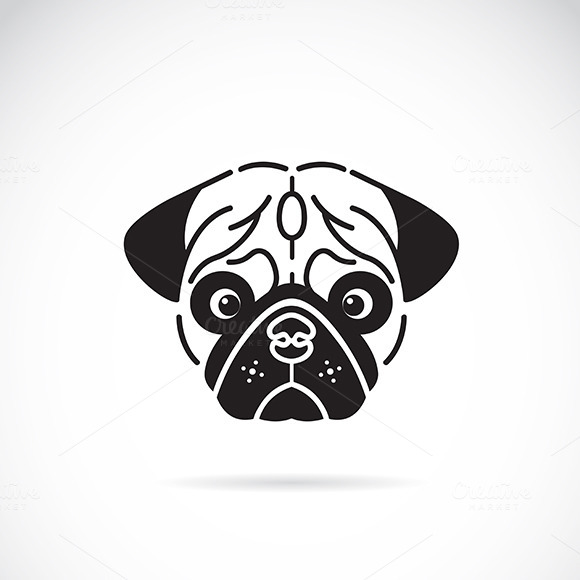 Vector Image Of Pug S Face