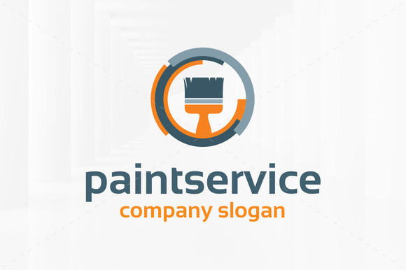 Paint Service Logo Template