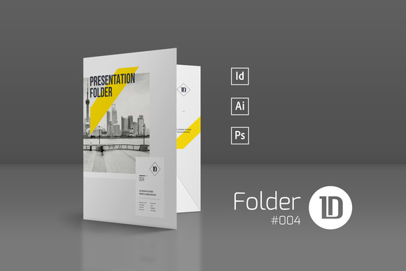 indesign presentation folder template designtube creative design content. Black Bedroom Furniture Sets. Home Design Ideas