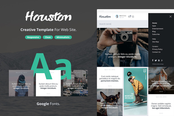 Houston Creative Template