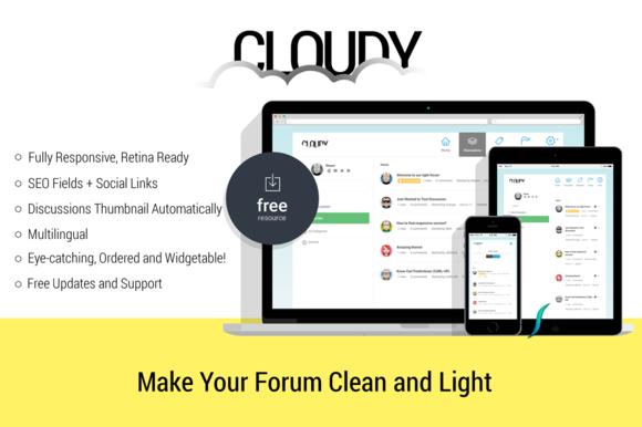 Cloudy Responsive Vanilla Forums
