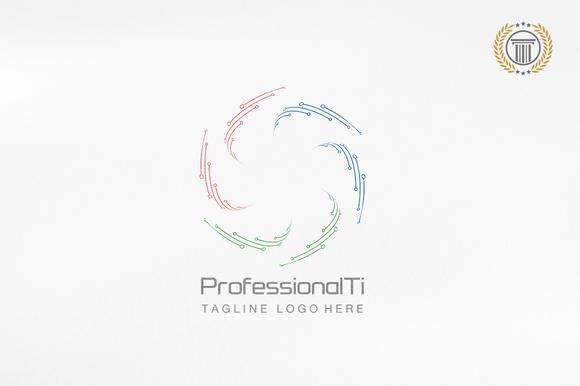 Line Circle Logo Design Premium