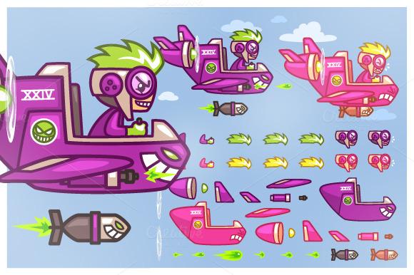 Phantom XXIV Plane Game Sprites