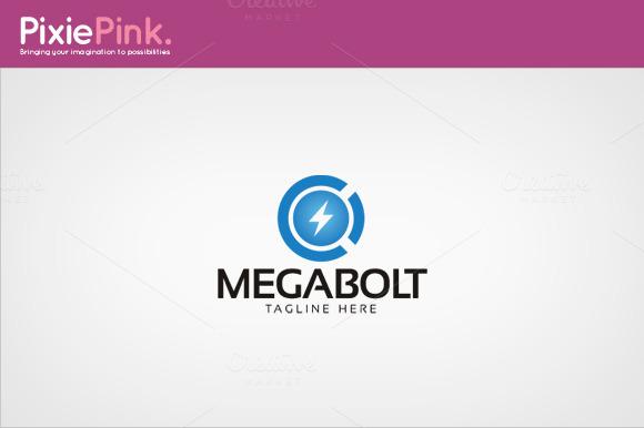 Mega Bolt Logo Template