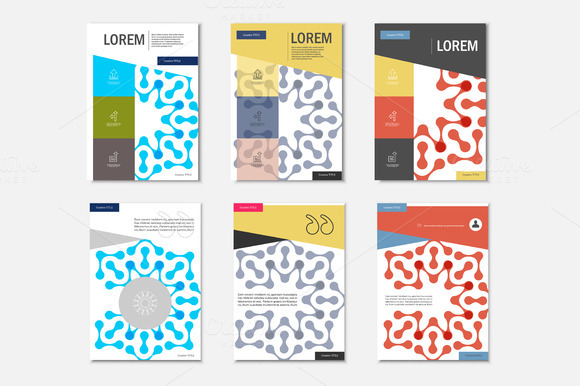 Brochures With Abstract Figure Vol.3