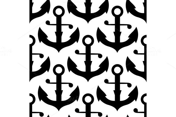 Nautical Anchors Seamless Pattern