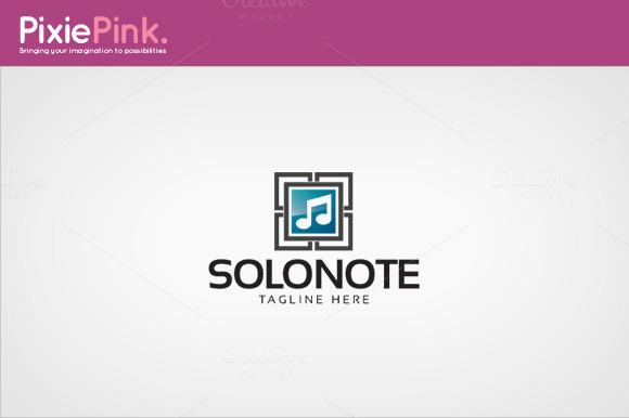 Solo Note Logo Template