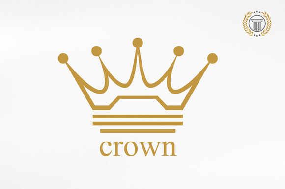 Royal Crown Logo Design Premium