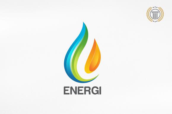 Energy Water Drop Premium Logos