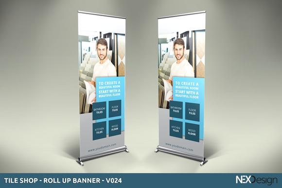 Tile Shop Roll-Up Banner V024