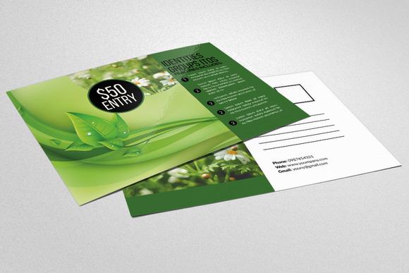Green Energy Postcard Templates
