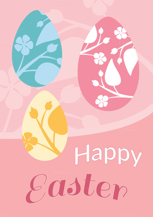 Brochure Flyer Layout Easter
