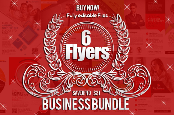 6 Corporate Business Flyers Bundle