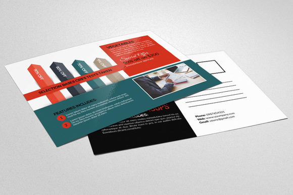 Global Business Company Postcards